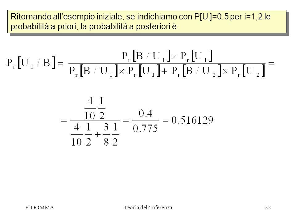 Ritornando all'esempio iniziale, se indichiamo con P[Ui]=0